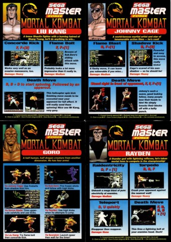 Mortal Kombat - Movimientos