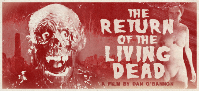 Return of the Living Dead flyer promocional